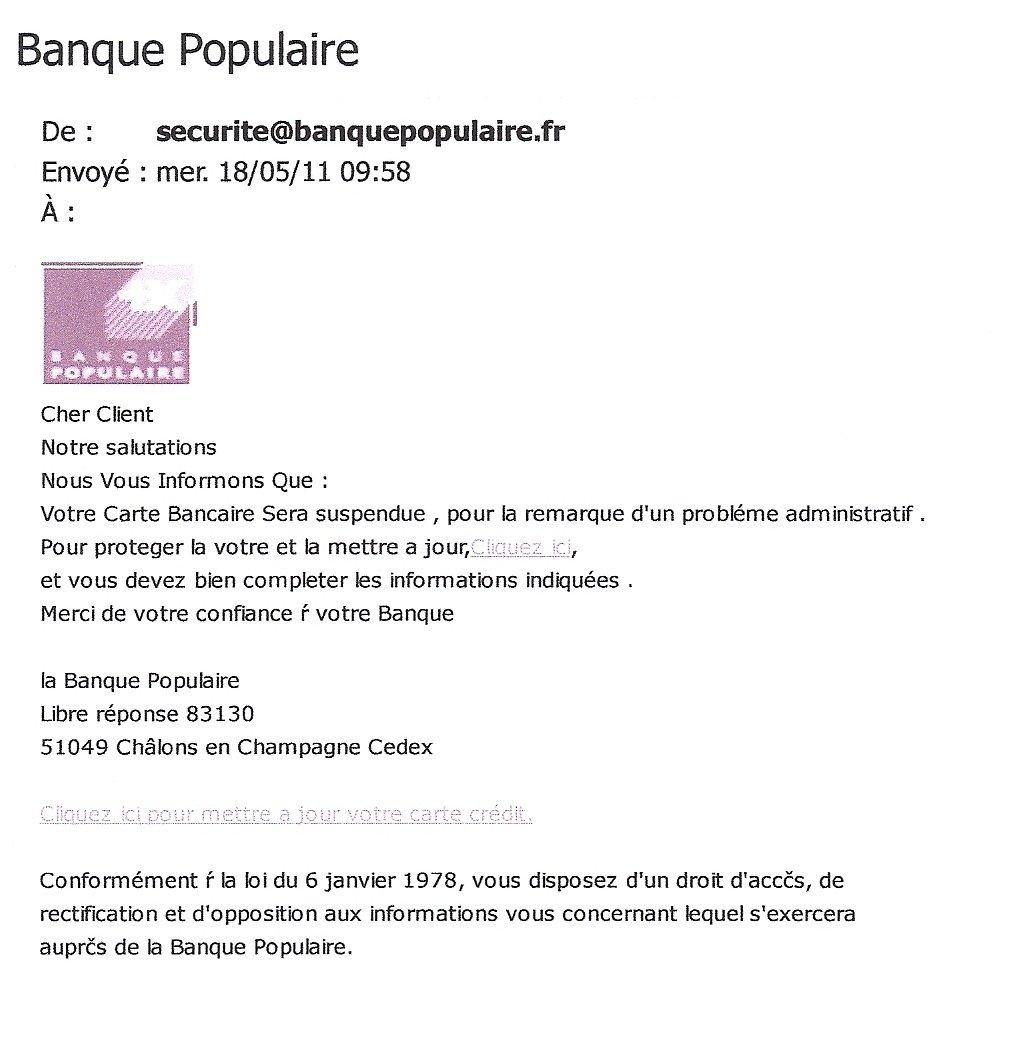 11 Attention A La Fraude Banque Populaire Ma Grand Mere M A Dit